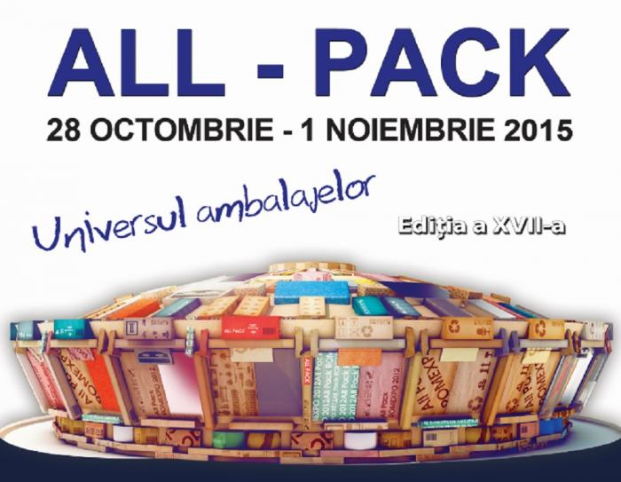 All Pack 2015 – eveniment reprezentativ al unei industrii dinamice și creative