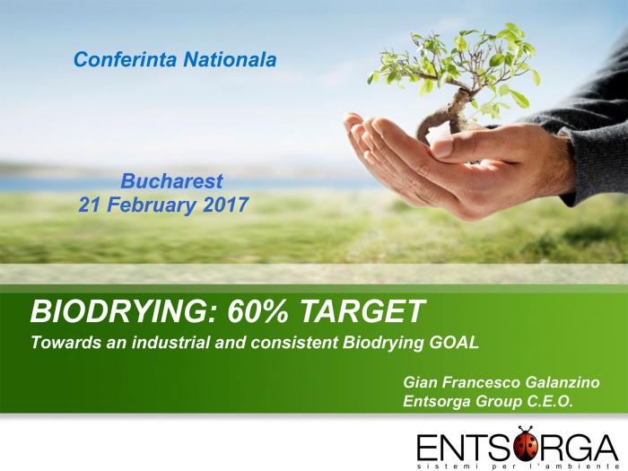 BIODRYING: 60% TARGET - Towards an industrial and consistent Biodrying GOAL